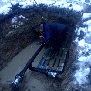 Havária vodovodu - oprava